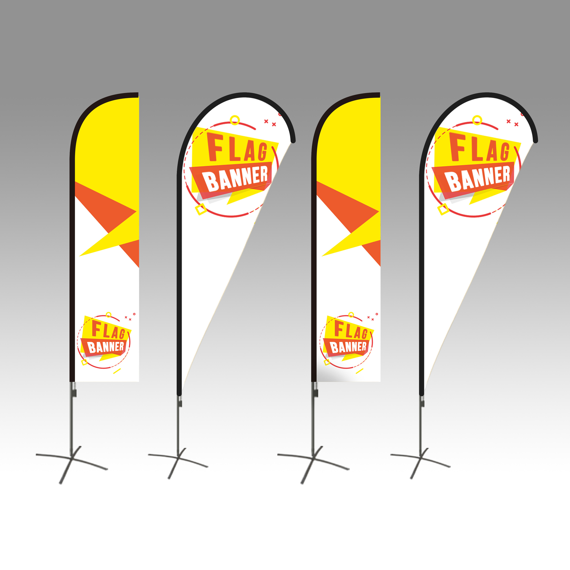Replacement Banner Flags - <span style=