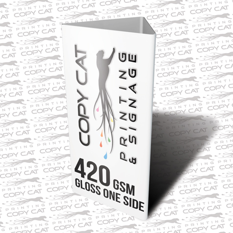 420gsm Gloss One Sided Table Talker