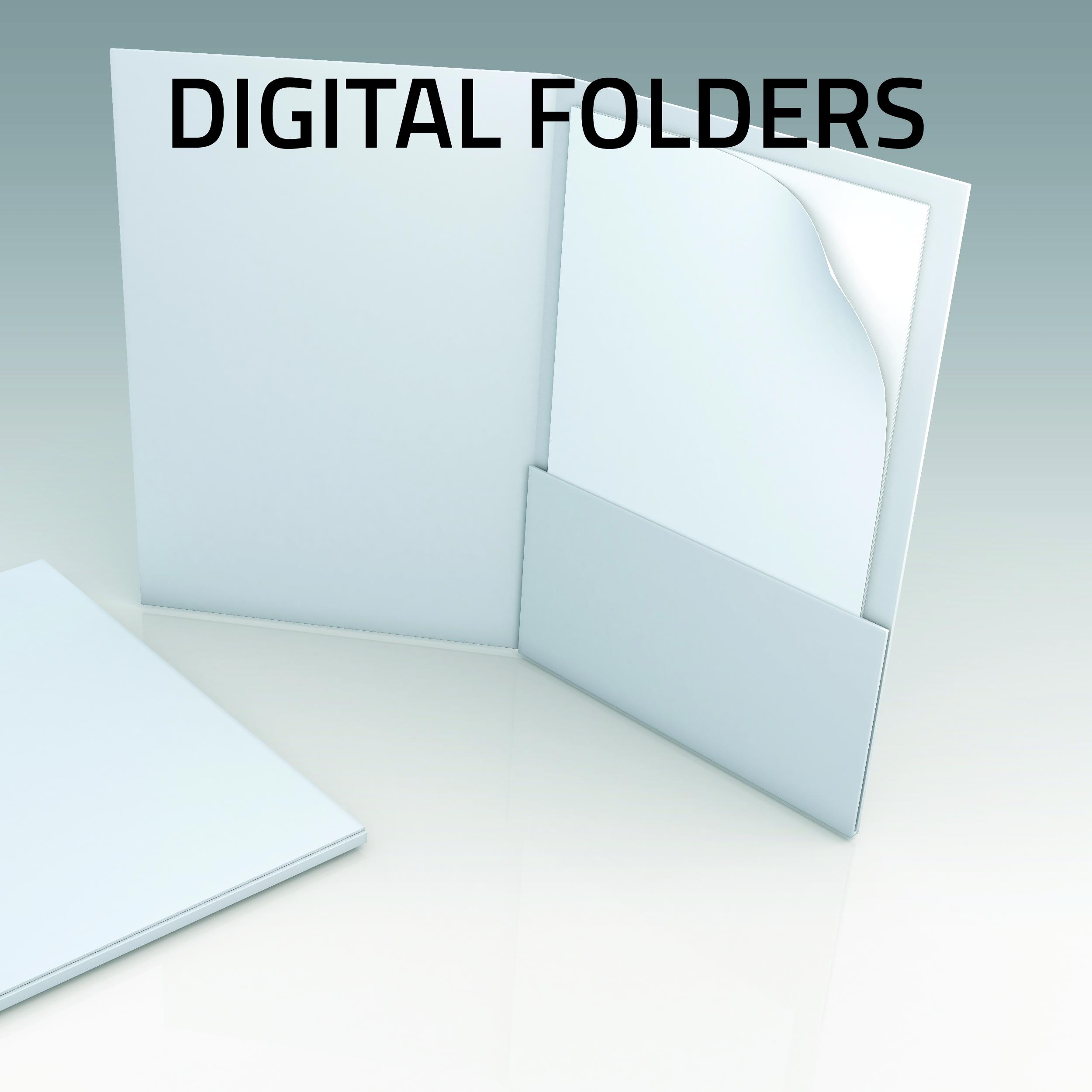 Digital Presentation Folders small run